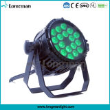 18PCS 10W IP65 RGBW impermeável LED PAR luz ao ar livre Estágio