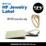 Etiqueta elegante pasiva de la joyería del Hf