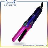 A indicação digital do ferro liso cerâmico profissional do Tourmaline do Straightener do cabelo rápida aquece acima o plugue de EU/Us/Au