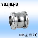 Válvula de verificación de acero sanitaria de Yuzheng Dn80
