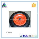 Roda pneumática do carrinho de mão do pneumático do Wheelbarrow/roda de borracha da roda (4.00-8, 3.50-8)