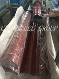 Hoja de acero revestida de acero esmaltada PPGI de la placa de material para techos del OEM/de la azotea del color del trapezoide