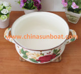 Sunboat 20cm in pieno del POT Stewpot dello smalto della vaschetta dello smalto dei fiori