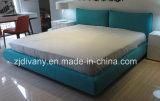 유럽식 침실 나무로 되는 가죽 직물 침대 (A-B42)