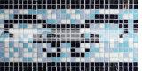 15X15mm 디자인 패턴 최신 용해 유리제 국경 모자이크 (BGAB002)