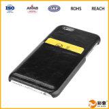 Caja de cuero del teléfono de la carpeta de la alta calidad, caja de la carpeta del teléfono móvil para el iPhone 6
