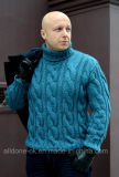 Soem-Luxuxqualität stricken Mann-Strickjacke-Wolljacke-Pullover mit der Hand