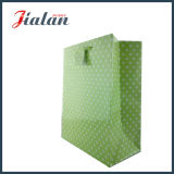 Green Dots Printed Fashion Personnalisé Cheap Paper Advertising Bag