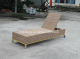 Jardín al aire libre Patio Rattan Chaise Wicker Beach Lounge (BM-573)