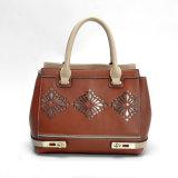 Dunkler Brown-Frauen-lederne Handtaschen