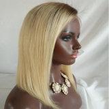 """20 """" Ombre Non-Remy Haar-Perücke-volles Spitze-Haar des Haar-130% Hand gebundenes"""