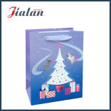 Modificar el bolso laminado brillante del regalo para requisitos particulares del árbol de navidad del papel de marfil 3D