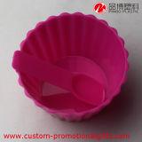 Spoon를 가진 재사용할 수 있는 Cupcake Plastic Ice Cream Cup