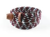 ジーンズのための新しい方法Ployesterの伸縮性がある編みこみのベルト