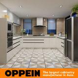 Gabinete de cozinha de madeira modular do PVC da alta qualidade moderna de Oppein (OP15-PVC05)