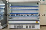 Refrigerador Refrigerated supermercado com a cortina de ar para o indicador das frutas e verdura