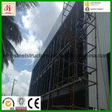 De bouw pre-Gebouwde Bouw van het Bureau van de Structuur van het Staal met de Muur & Godown van het Glas