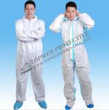 Coverall PP устранимого Nonwoven высокого качества отражательный защитный