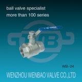 2PC Vrouw schroefdraad roestvrij staal handmatige Ball Valve 1000 Wog