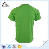Vêtements de sport sublimés par T-shirt fait sur commande vert d'homme