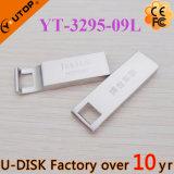 USB feito sob encomenda Pendrive do metal do logotipo do laser dos presentes da promoção (YT-3295-10)
