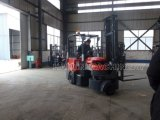 Narrow novo Aisle Articulated Battery Forklift (CPCD500) com ISO, GV
