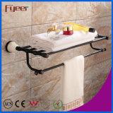 Fyeer Ceramic Base Black Accessoire de salle de bain Porte-serviettes en laiton