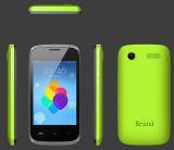 "3.5 "" OEM ODMの製造によるGSMの携帯電話のクォードコア人間の特徴をもつOS"