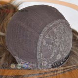 Peruca bonita que vende a peruca judaica superior de seda da pele loura de Humen