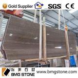 Mattonelle di marmo di legno del Brown del caffè della Cina, lastre, lastre & mattonelle di marmo del Brown del grano di legno