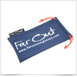Bolsa del teléfono del lazo de la Doble-Cara de Microfiber con la escritura de la etiqueta