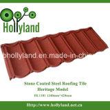La piedra colorida saltara el azulejo de material para techos revestido del metal (clásico)