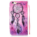 Drawing colorato Leather Caso Cell Phone Flip Cover per il iPhone