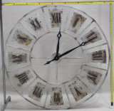 غلّة كرم جميل [رترو] صناعيّة ريفيّ مستديرة [ديوكريتيف] معدن جدار زخرفة ساعة