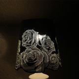 Lámpara de vector blanca de la flor de Rose del acero inoxidable del estilo europeo