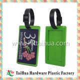 Etiqueta colorida del equipaje del PVC del diseño de encargo de la manera del OEM