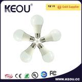 E27/B22/E14 blanc frais/chaud de l'aluminium DEL de lumière d'ampoule de base
