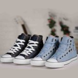 De klassieke Schoenen van het Skateboard van het Canvas anti-Silp van de Stijl Unisex- Lace-up Blauwe