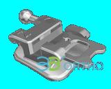 Orthodontischer Metal Selbst-Ligating Bracket mit Cer, FDA, ISO13485 Certificate