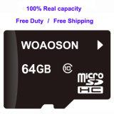 100% de capacidade total para cartão de memória Micro SD