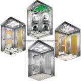 Мраморный лоща лифт пассажира с машиной Roomless