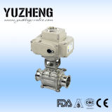 ActuatorのYuzheng Sanitary Clamped Ball Valve