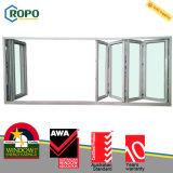 RopoはWindowsおよびドアデザインを折るプロフィールUPVCのプラスチックを補強した