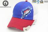 O algodão Sun fresco vermelho da alta qualidade ostenta o boné de beisebol do chapéu com o bordado