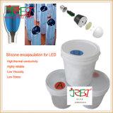 Puate d'étanchéité constitutive transparente de silicones de mélange de constructeurs d'encapsulation