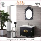 Mobília européia moderna do banheiro do MDF da bacia do dobro do estilo (5606)