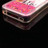 caixa plástica do telefone da pintura do Glitter do Quicksand líquido do petróleo 3D