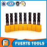 El carburo de tungsteno de la alta calidad 2, 4 flautas ajusta el molino de extremo