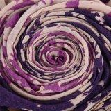 Frauen-doppelte Farben-purpurroter und blauer Polyester-Schal weiches Pashmina