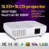 Projetor LCD de 3000 Lumens de cinema doméstico de alta qualidade 3LED